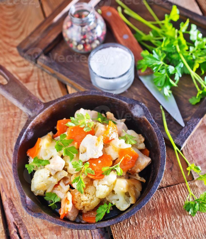 gefrituurde groenten foto