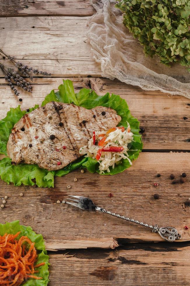 gegrild vlees steak foto