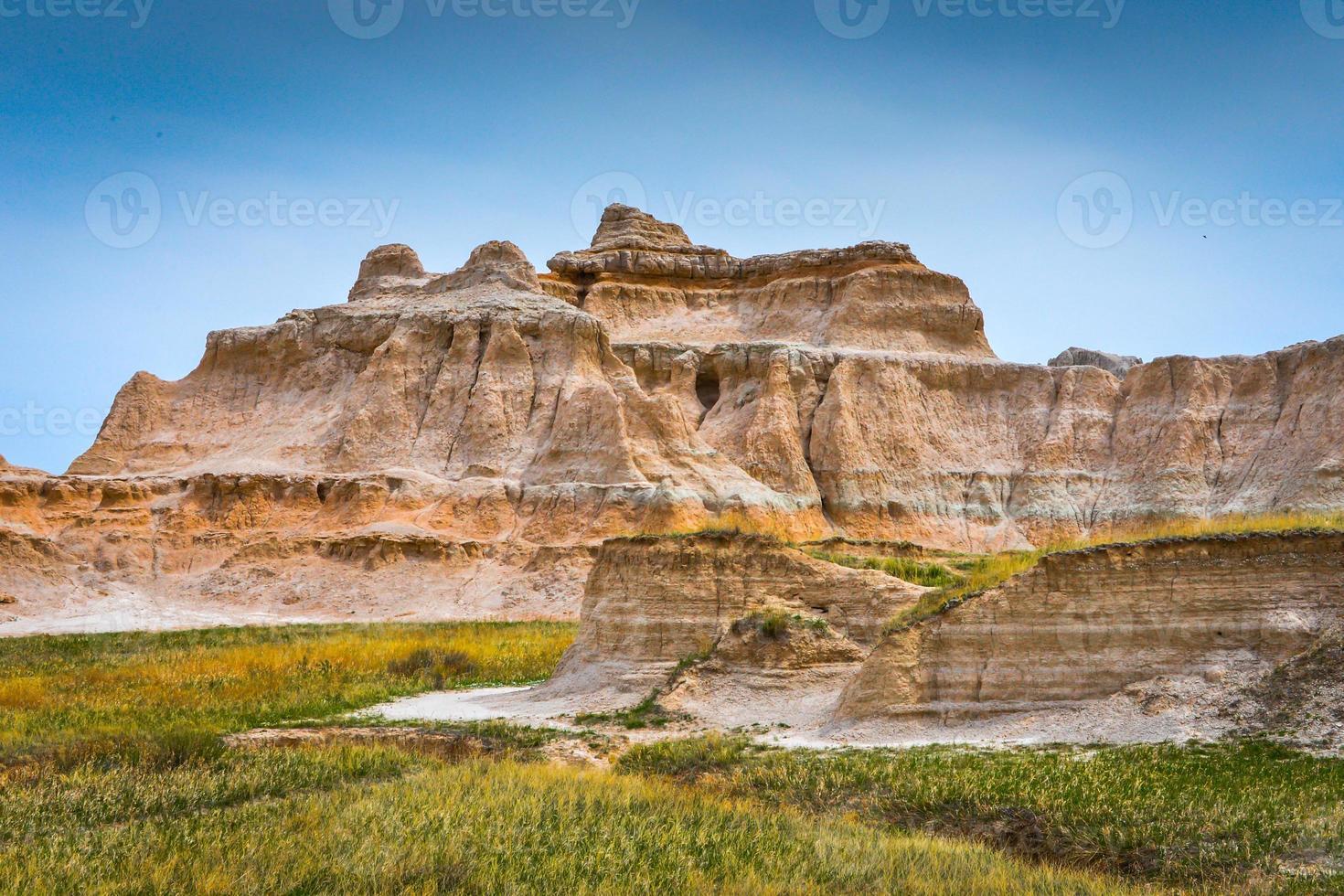 badlands rotsformatie foto