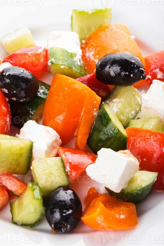 Griekse salade macro foto