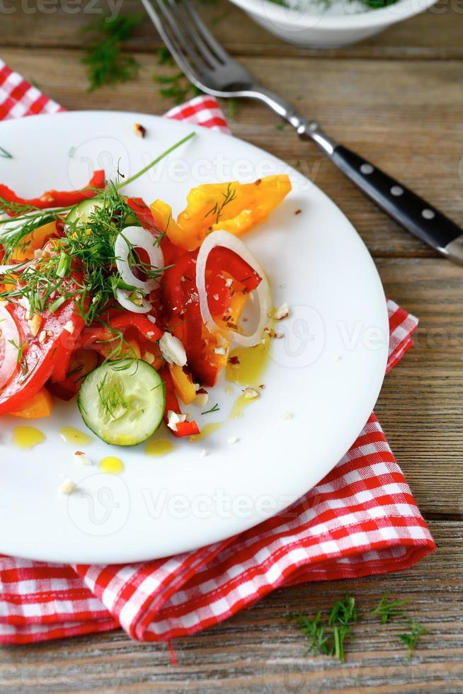 Dieetsalade met groenten foto