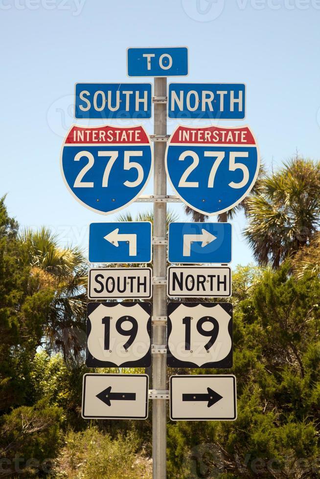 snelweg 275 noord of zuid foto