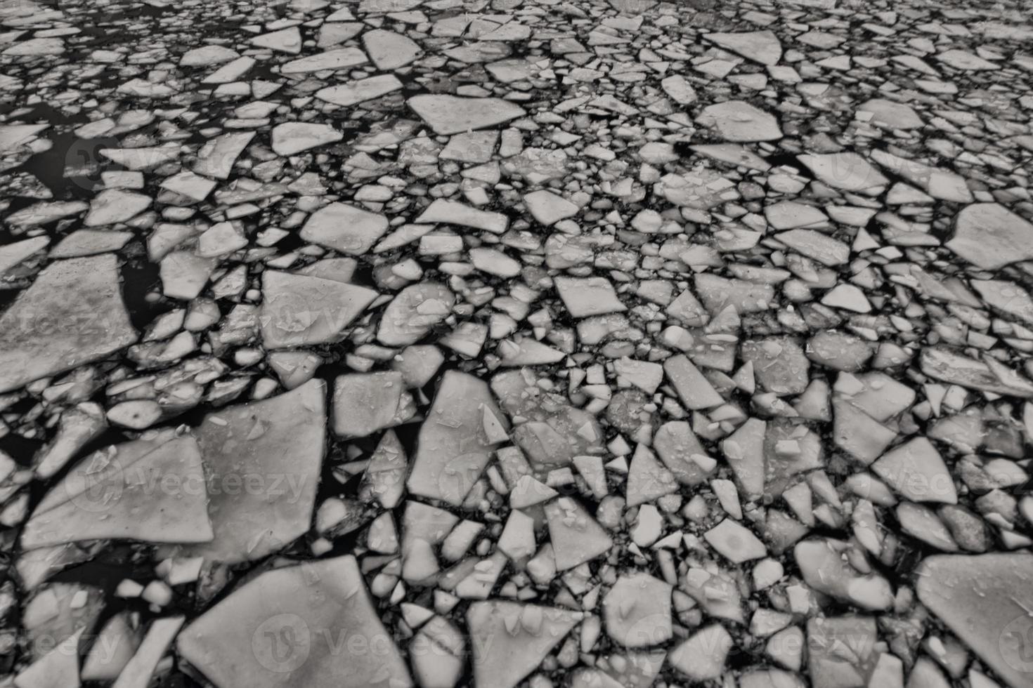 bevroren rivier foto