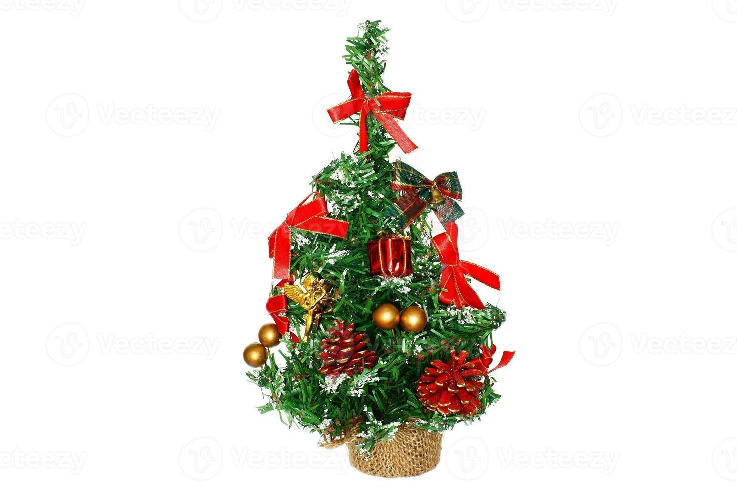 dennenboom voor kerstvakantie foto