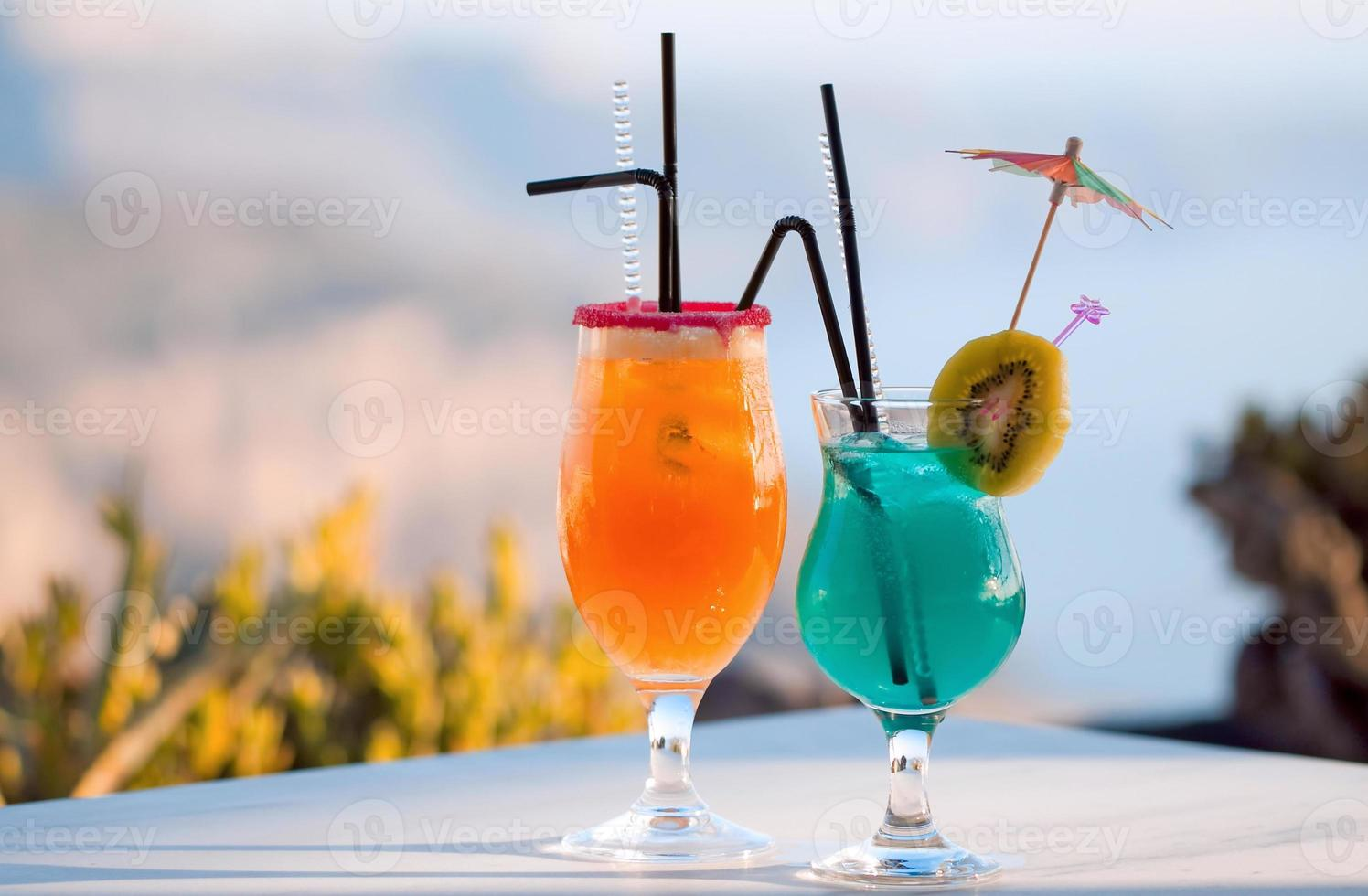 zomerse cocktails foto
