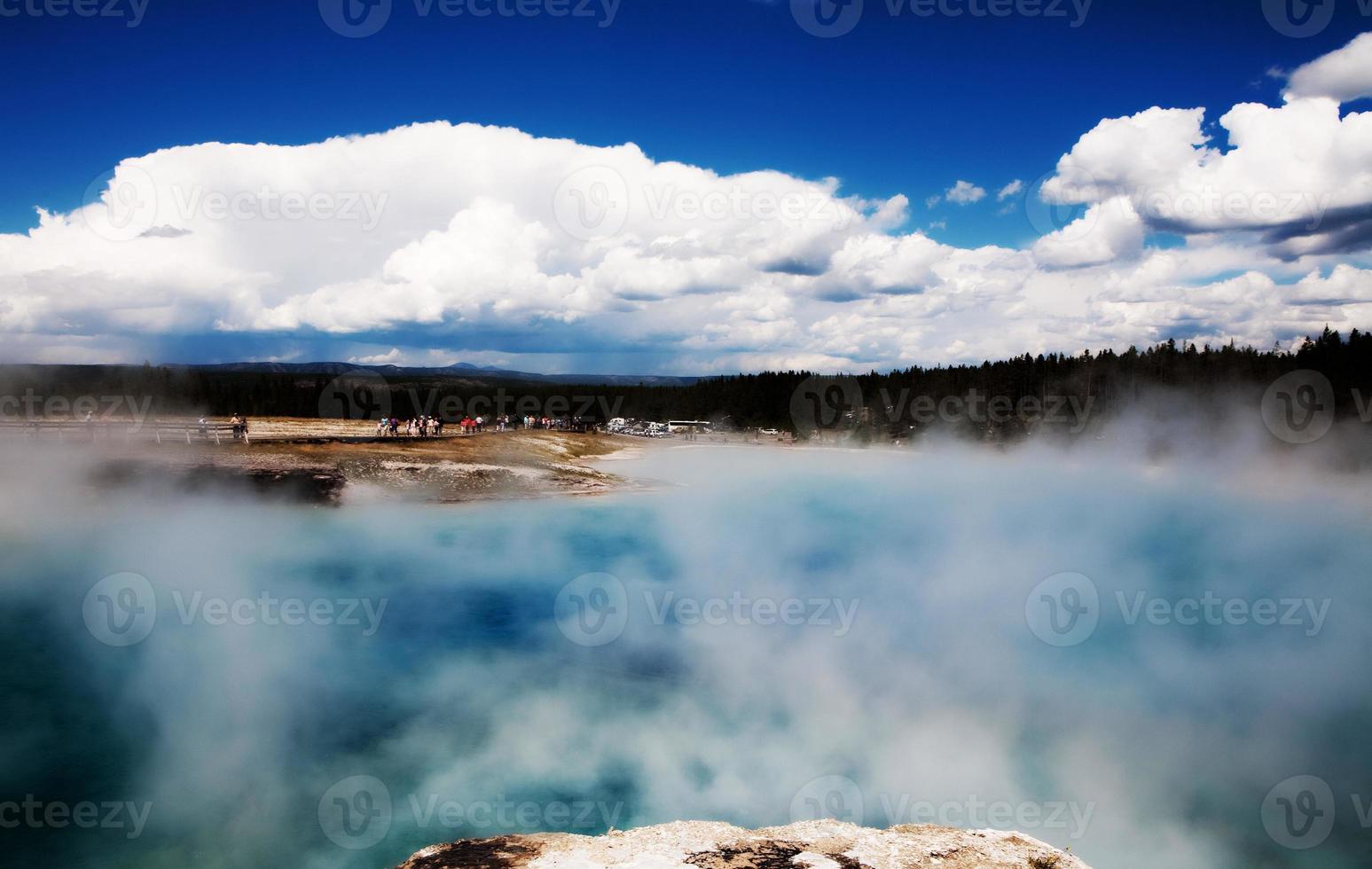 yellowstone thermische warmwaterbronnen foto