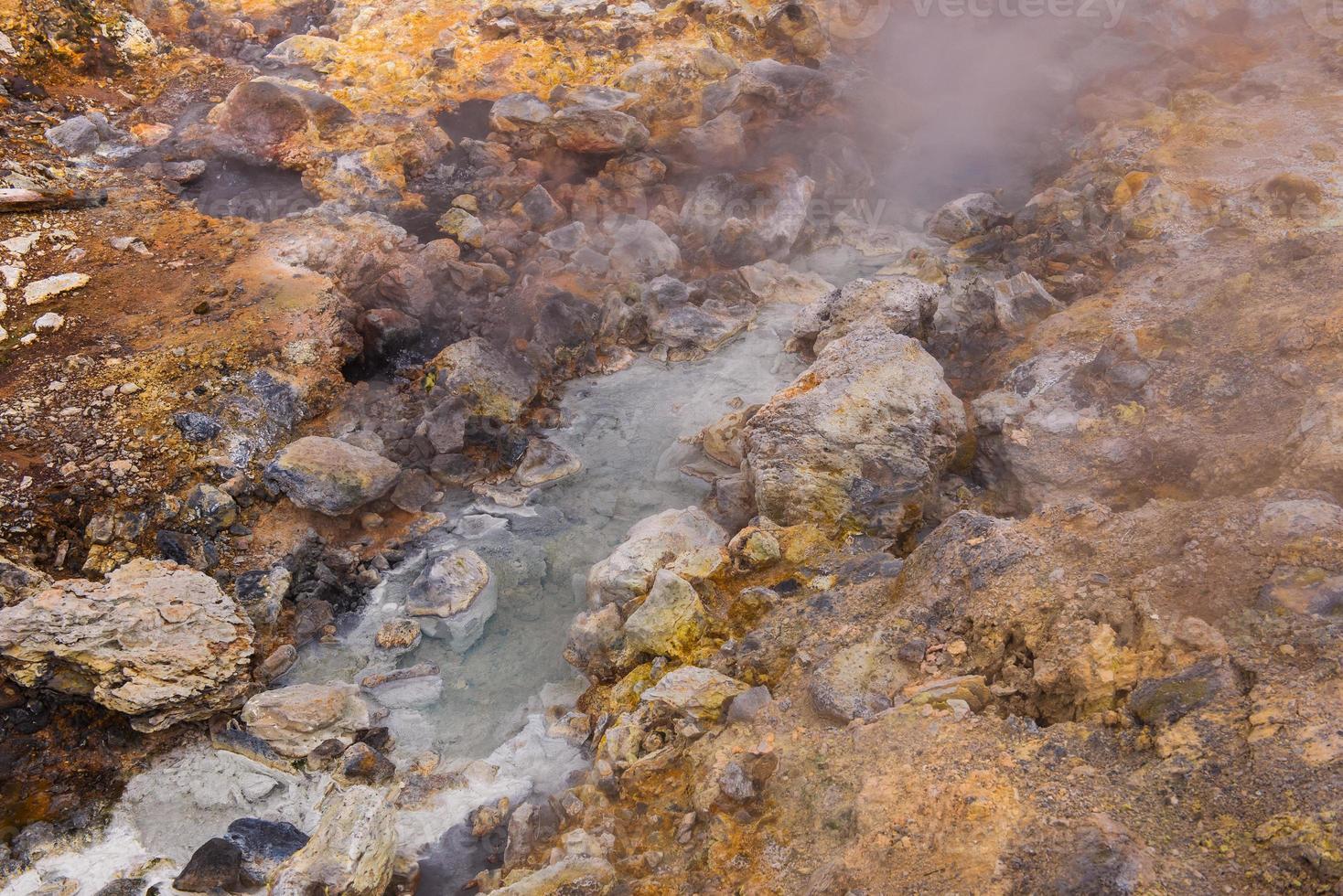 krysuvik geothermisch gebied foto