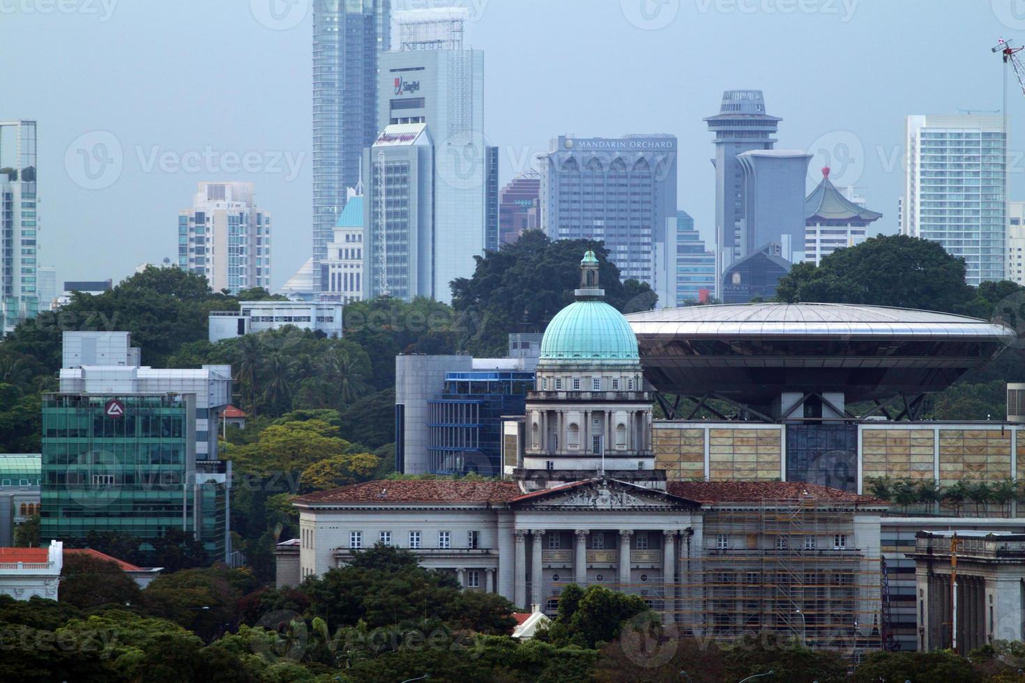 stadsgezicht van singapore foto