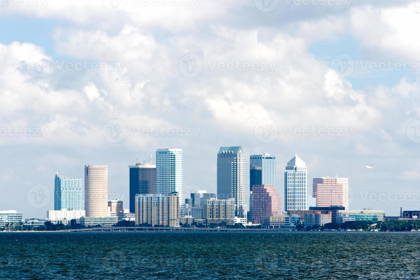 tampa skyline uitzicht op de baai foto