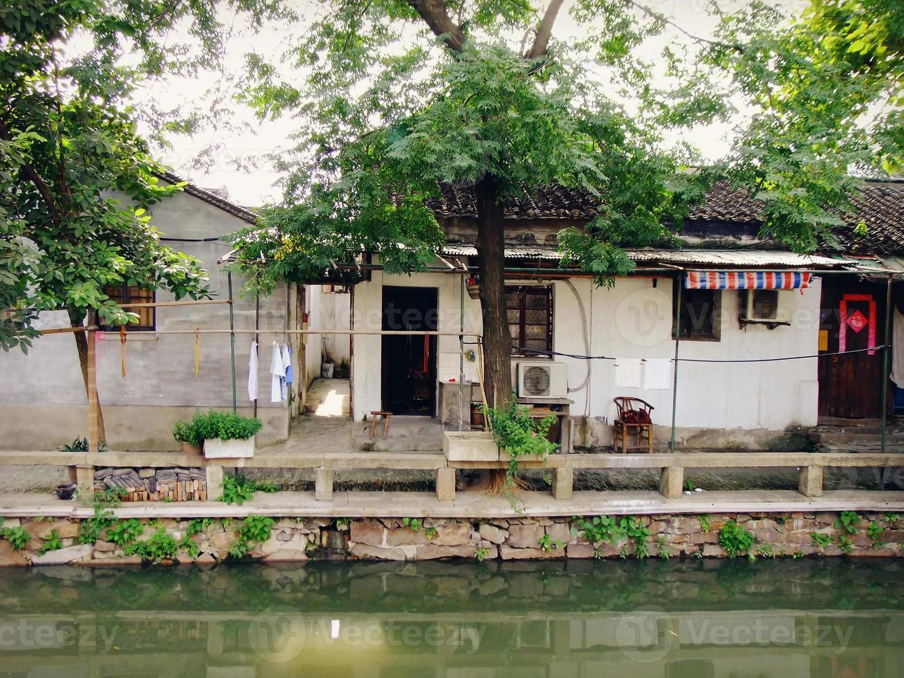 pingjiang oude straat in suzhou, china foto