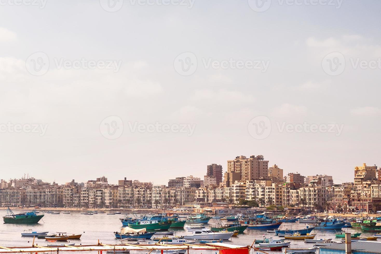 panorama uitzicht over alexandrië, egypte. foto