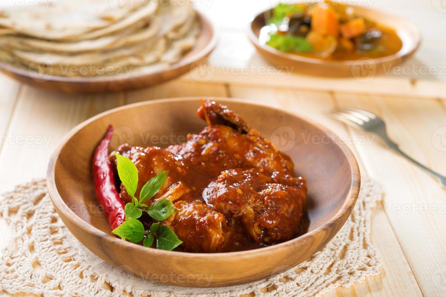 Indiase curry kip. foto
