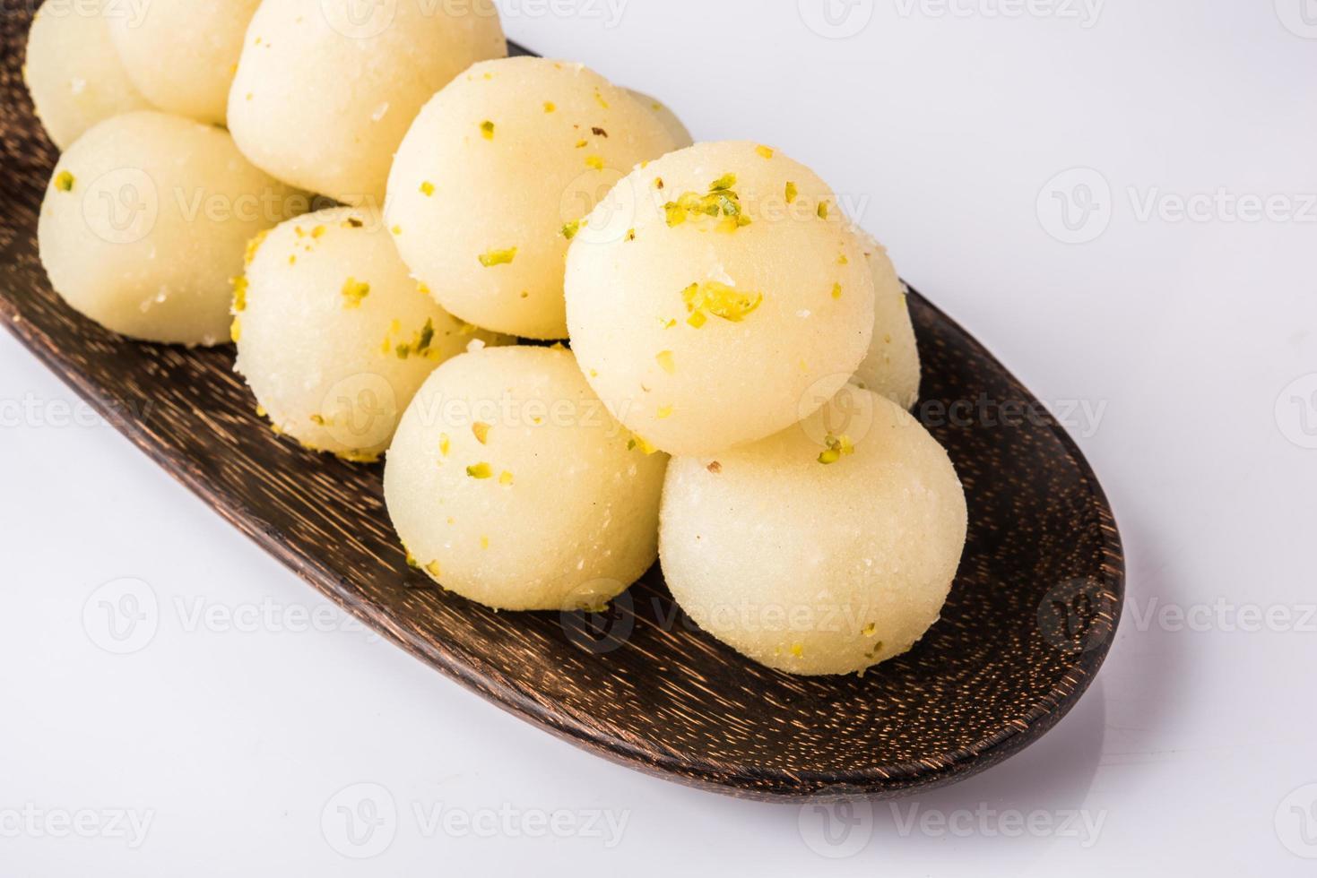rasgulla of rasgulle, Indisch zoet, Indisch dessert foto