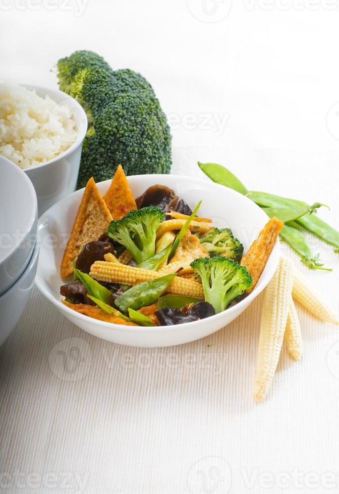 tofu beancurd en groenten foto
