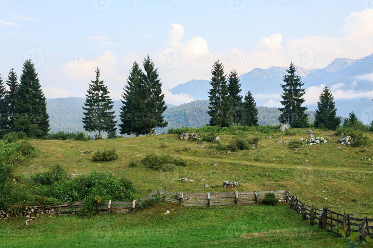 typisch berglandschap foto
