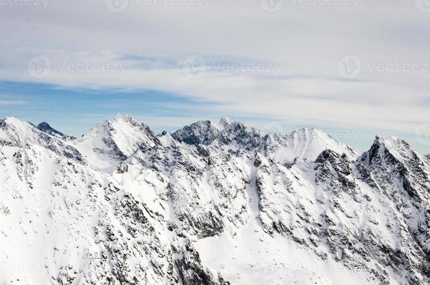 landschap van bergen foto