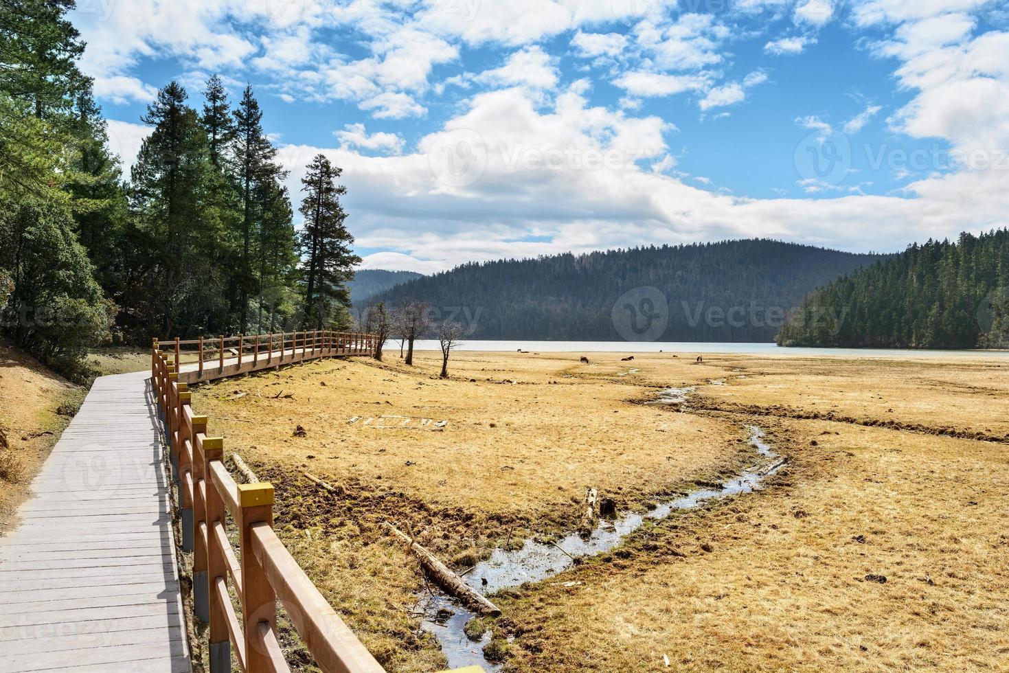 landschap van shangri-la foto