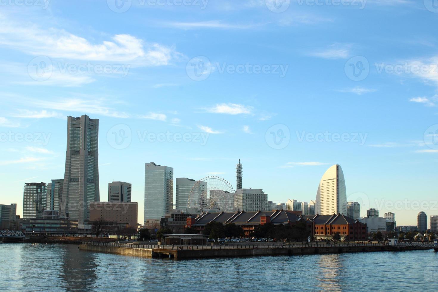 het landschap van Japan bij yokohamastad foto