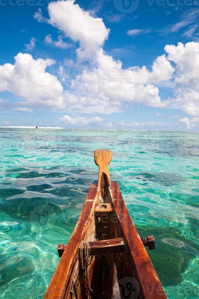 zee landschap op de boot foto
