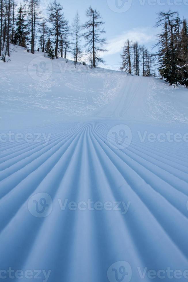 winter alpen sporen foto