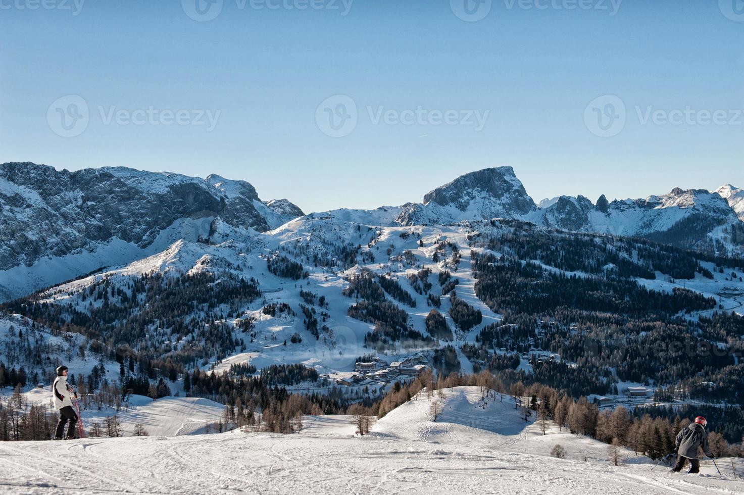 Alpen in de winter foto