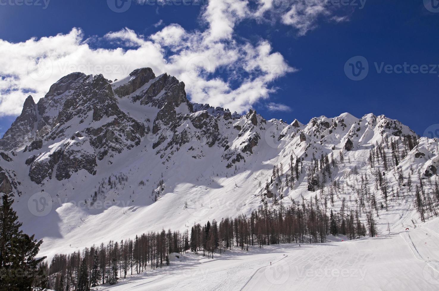 Dolomieten Alpen berg in de winter foto