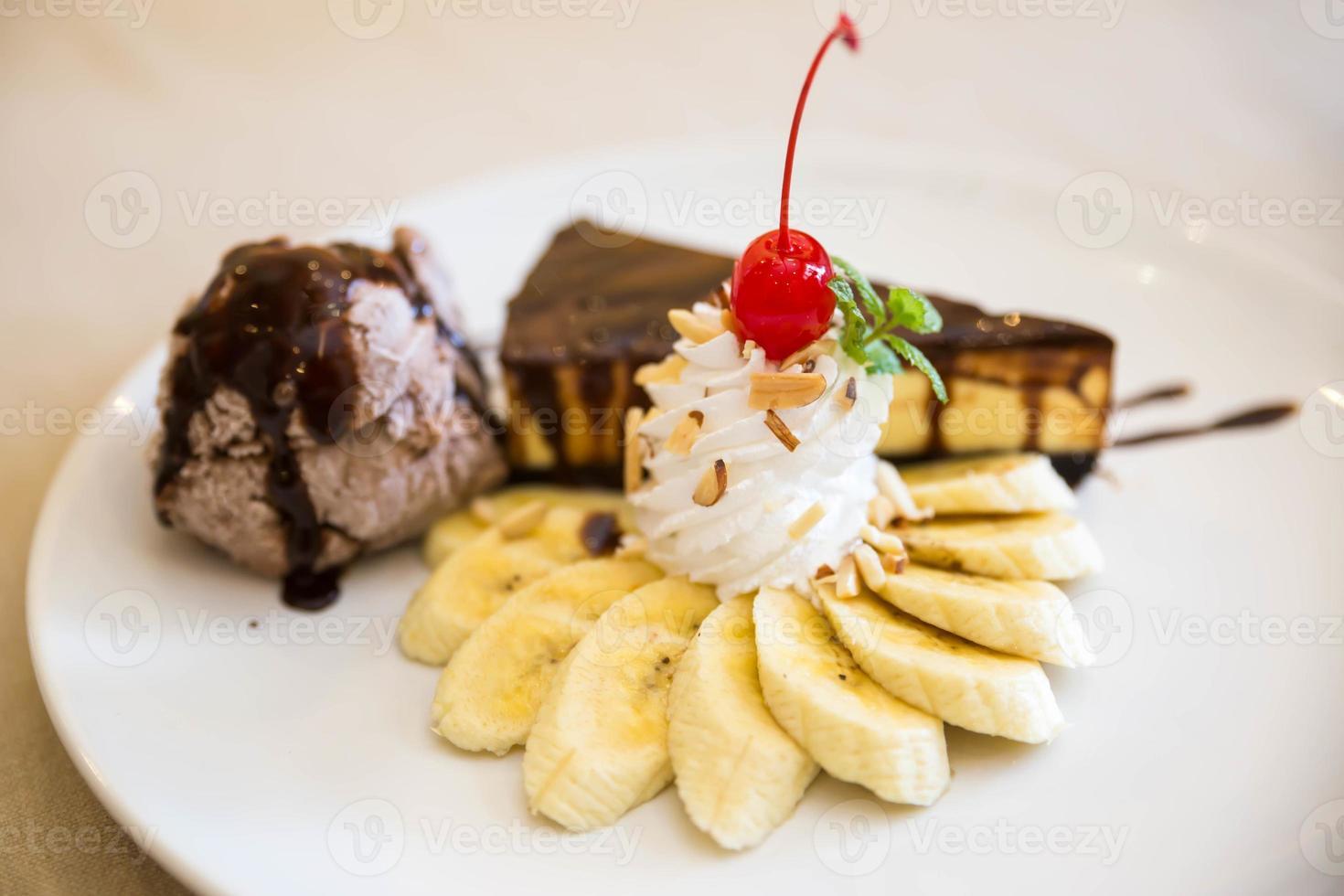 bananen cheesecake foto