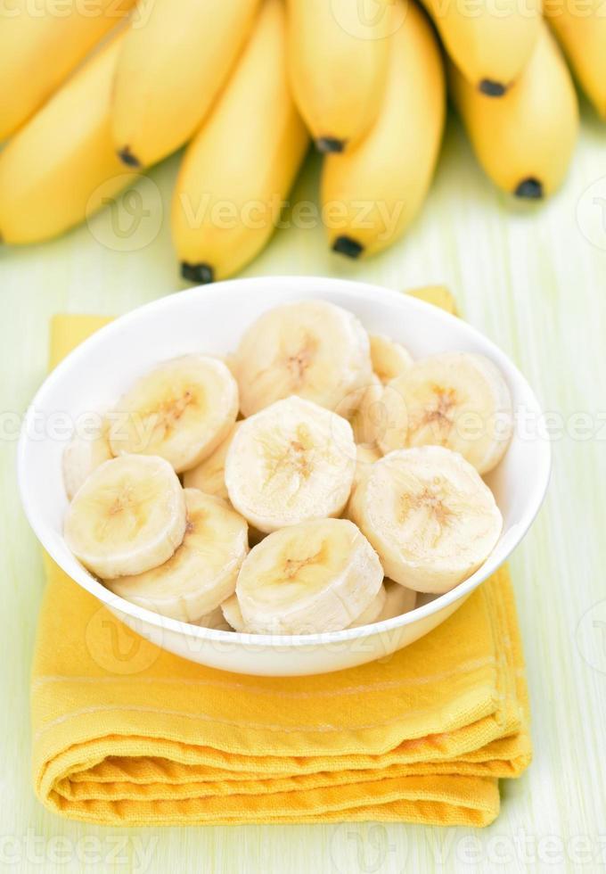 plakjes banaan foto