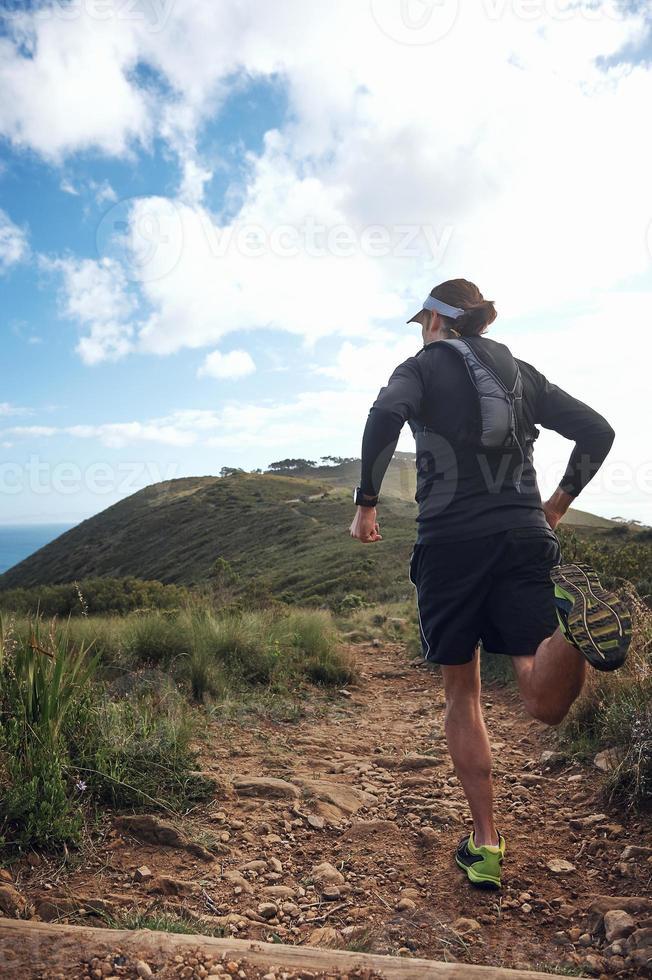 trail man rennen foto