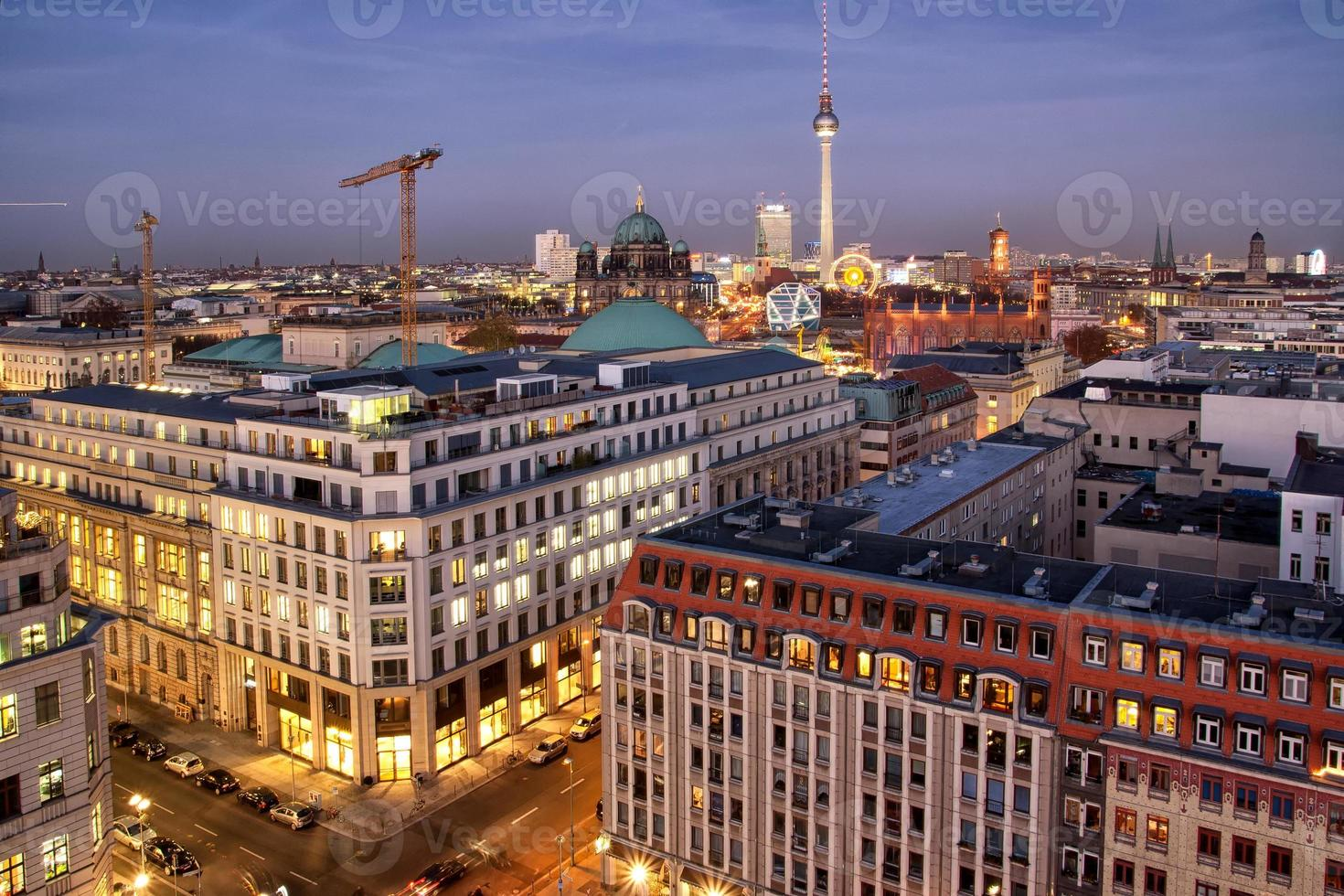panorama van Berlijn foto