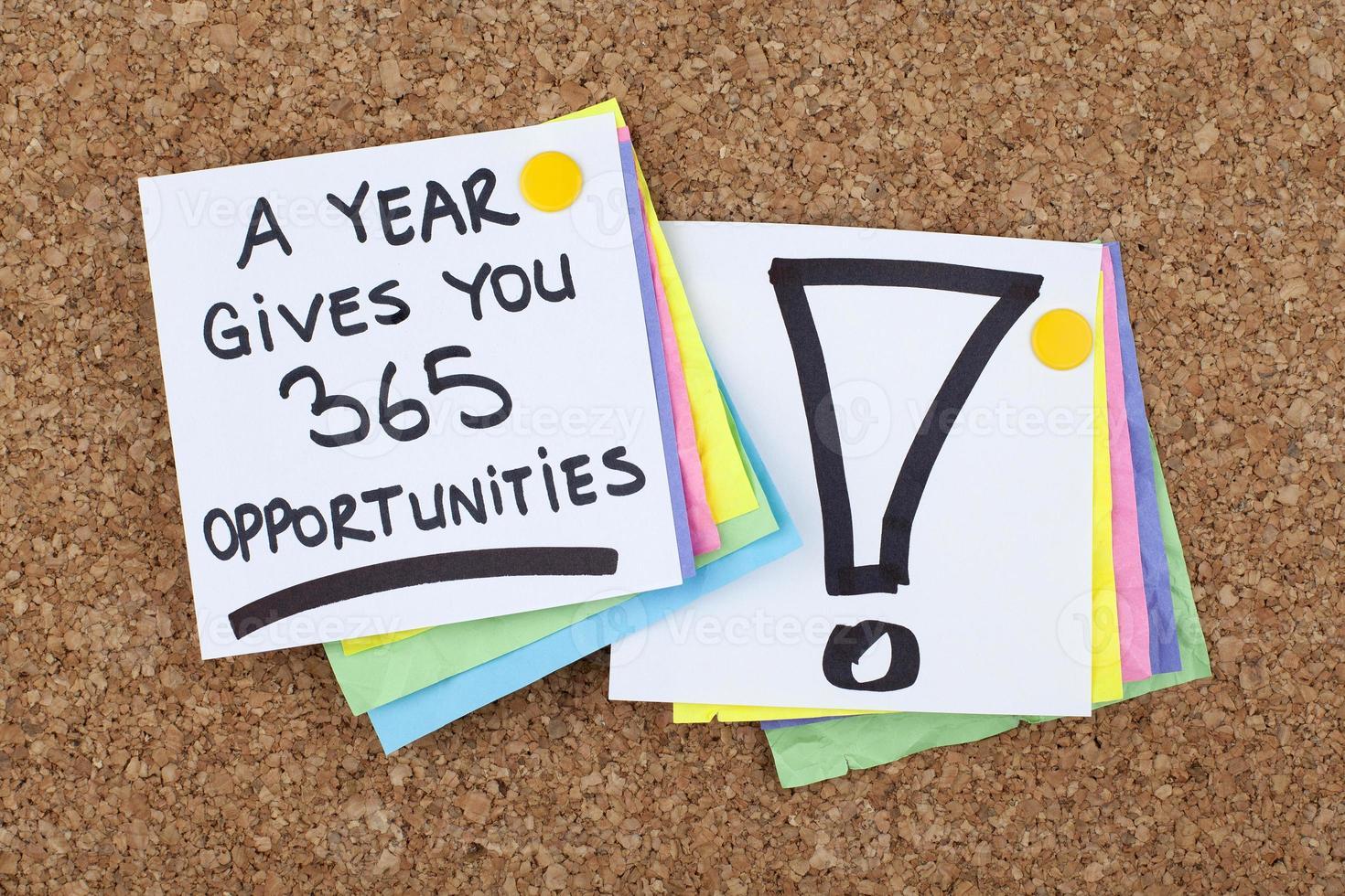 een jaar geeft je 365 kansen foto