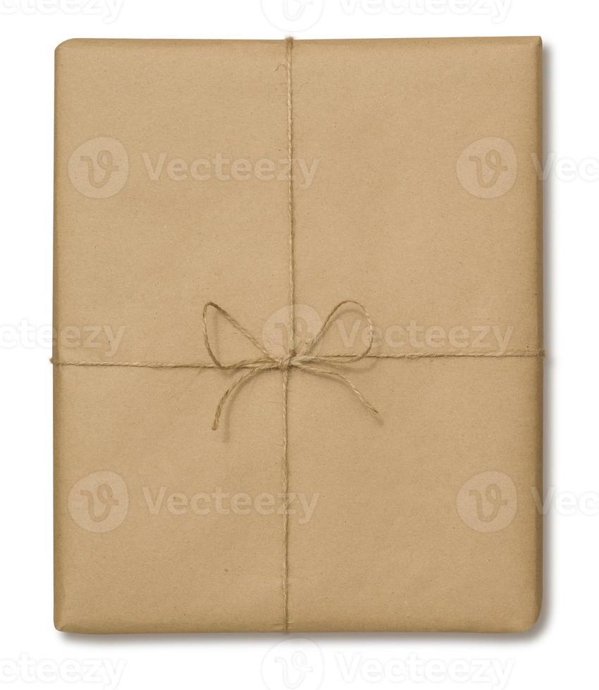 bruine papieren verpakking foto
