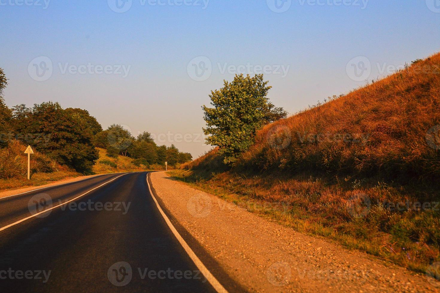 land snelweg foto