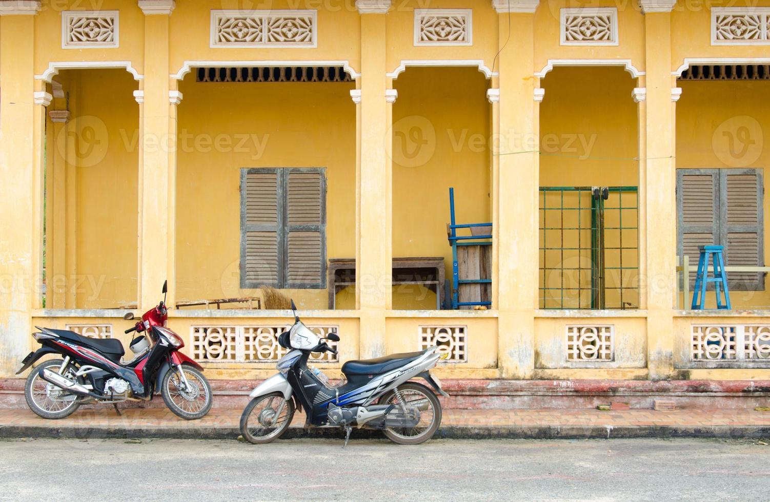motobikes bij tay ninh, vietnam foto