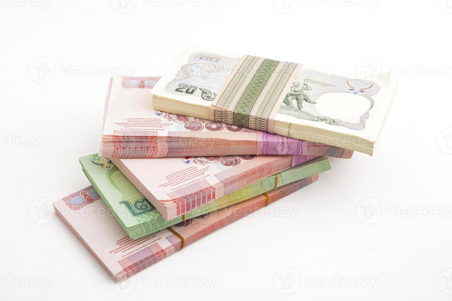 Thaise bahtbankbiljetten foto