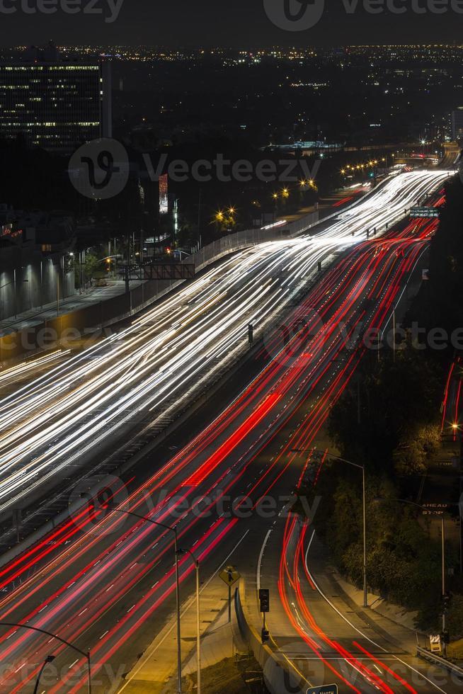 San Diego snelweg Los Angeles nacht foto