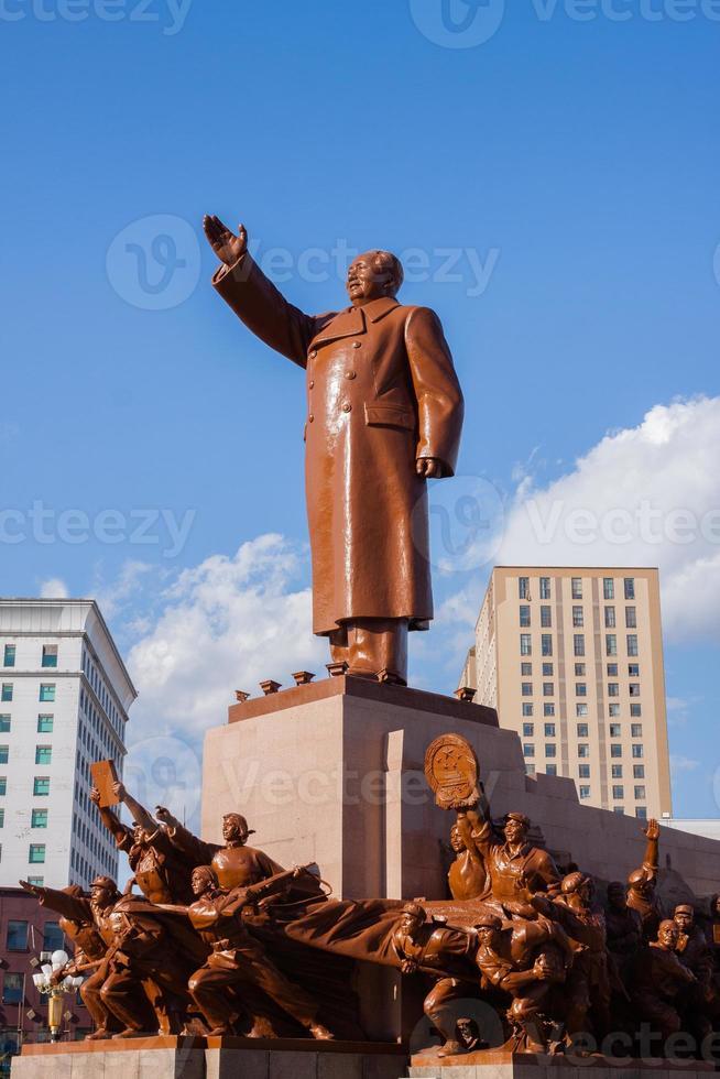 mao zedong standbeeld foto