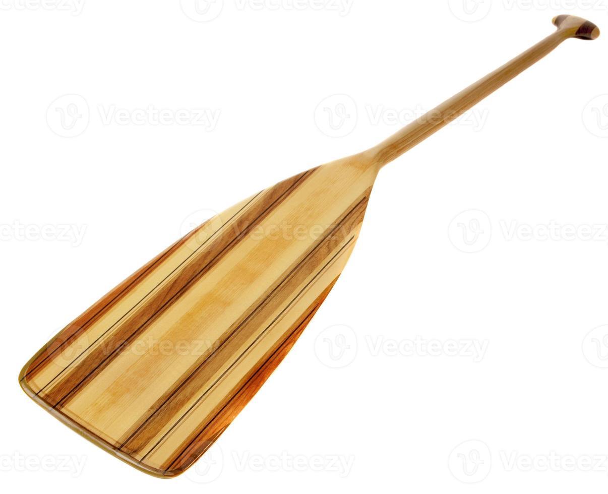 houten kanopeddel foto