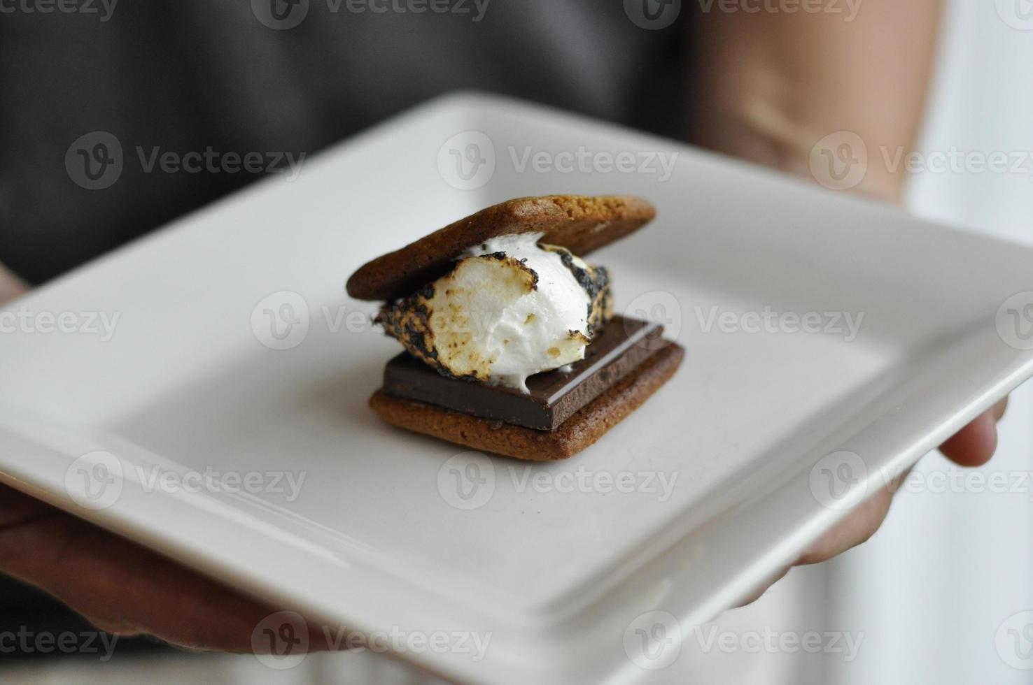 s'mores met zelfgemaakte crackers van Graham foto