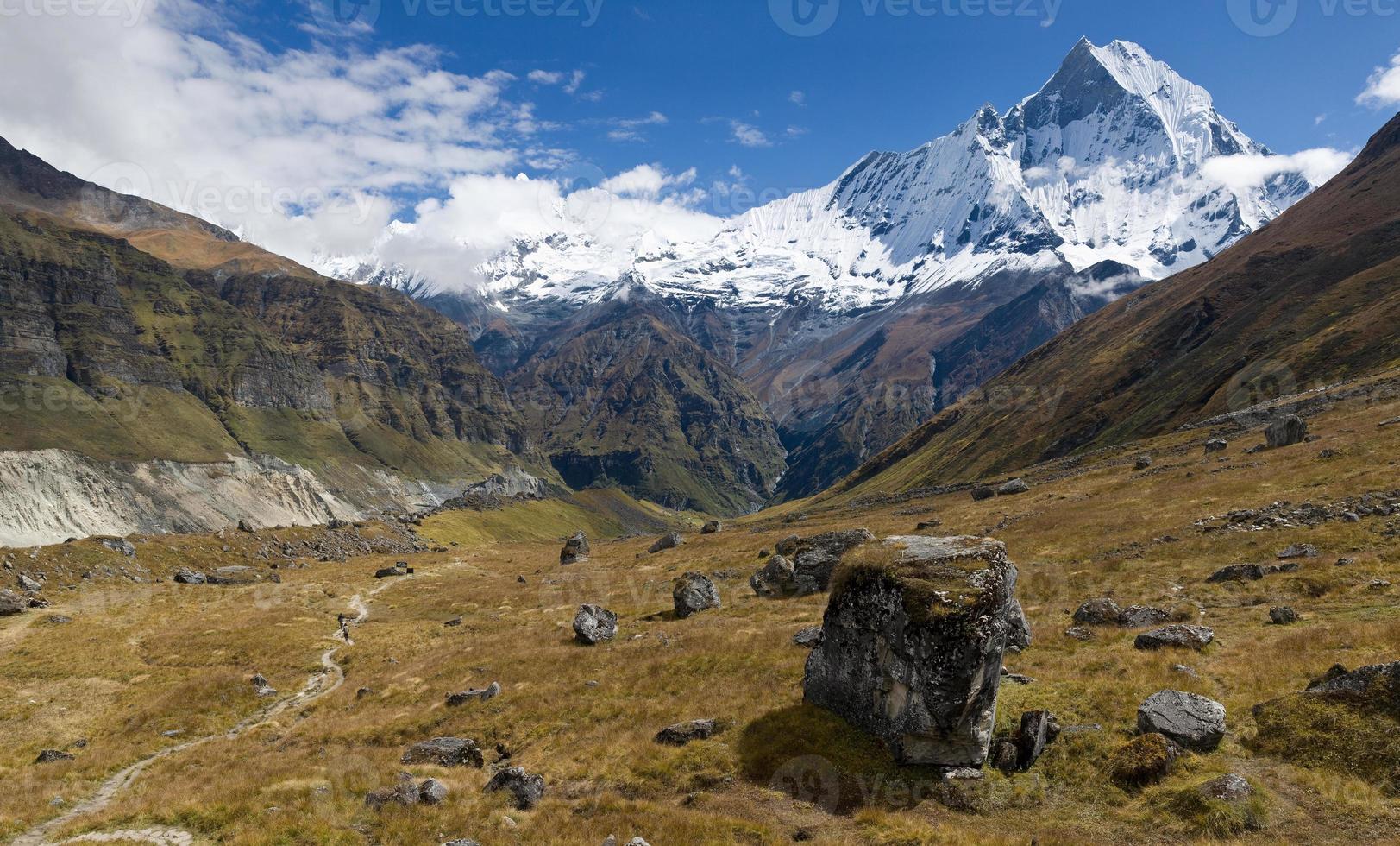 uitzicht vanaf annapurna basiskamp foto