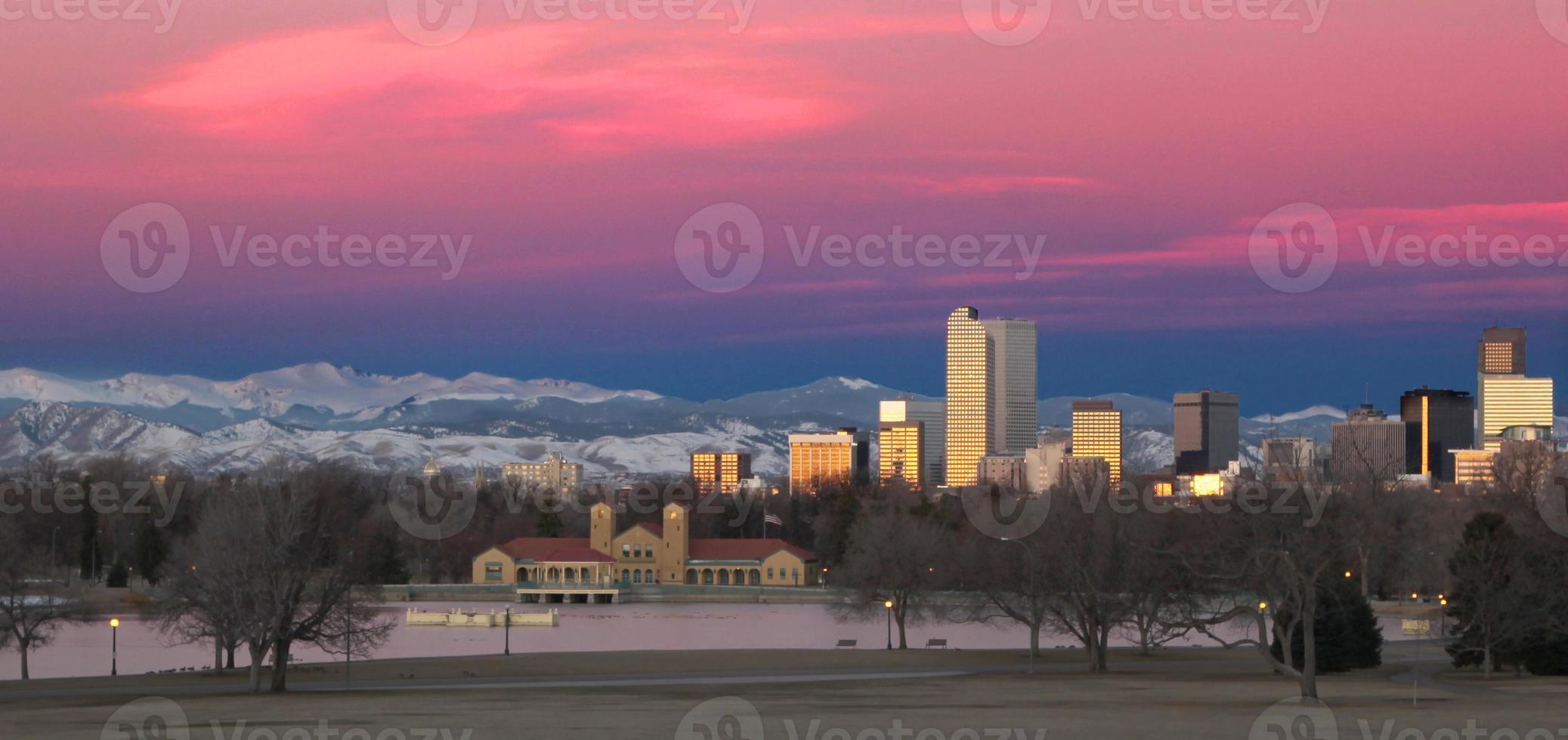 Denver, de skyline van de binnenstad van Colorado foto
