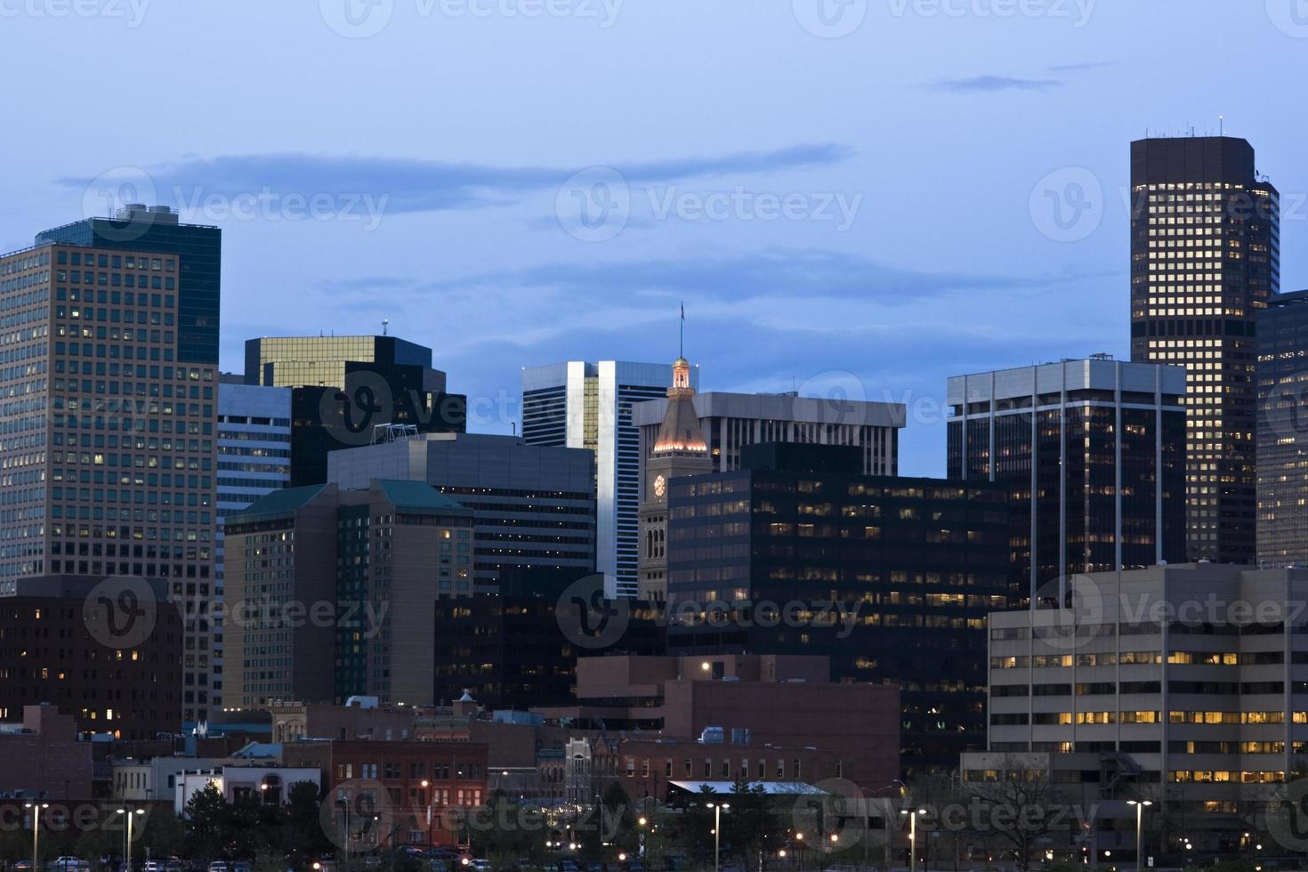 donker worden in Denver foto