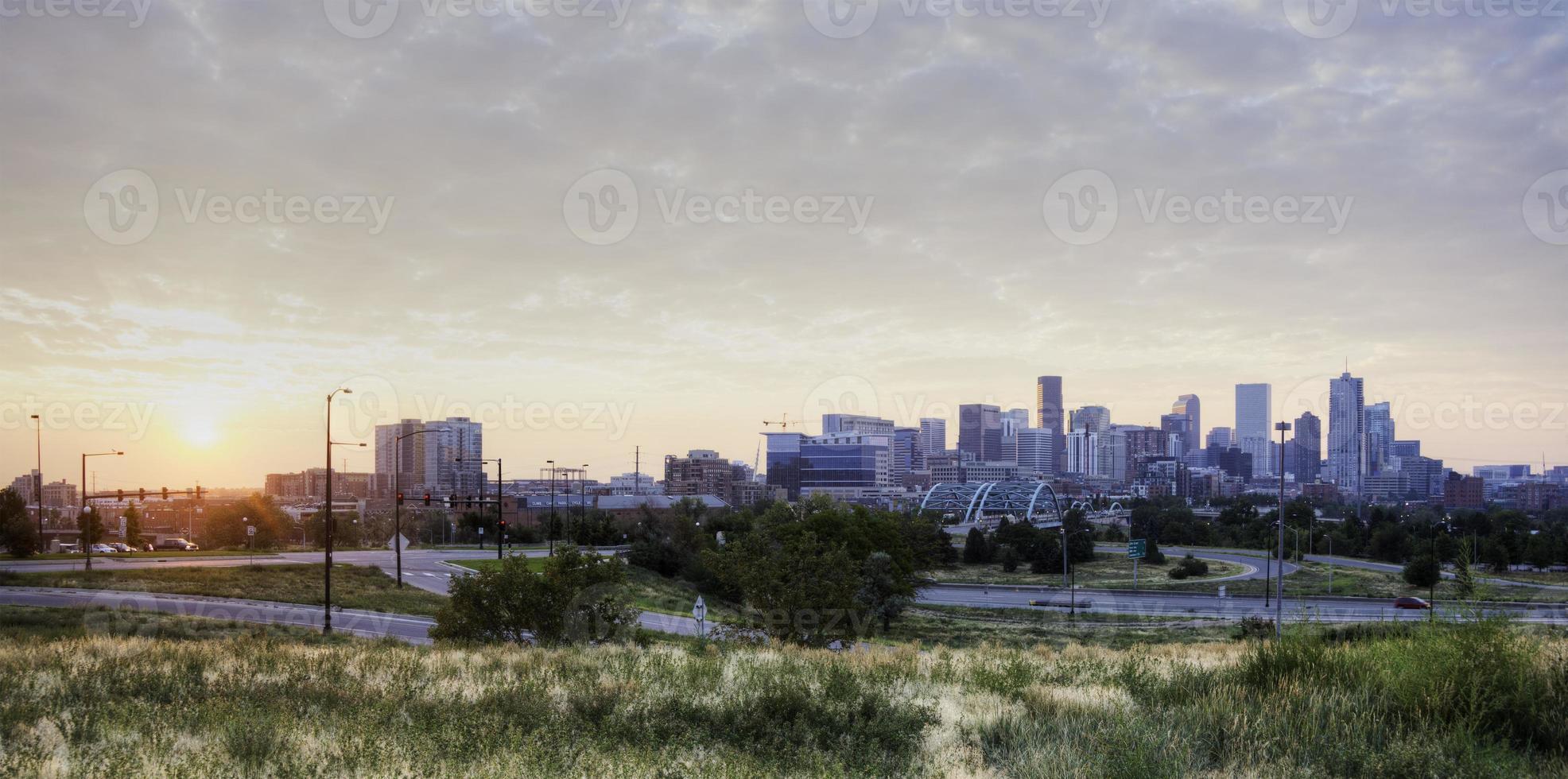 panorama van denver foto