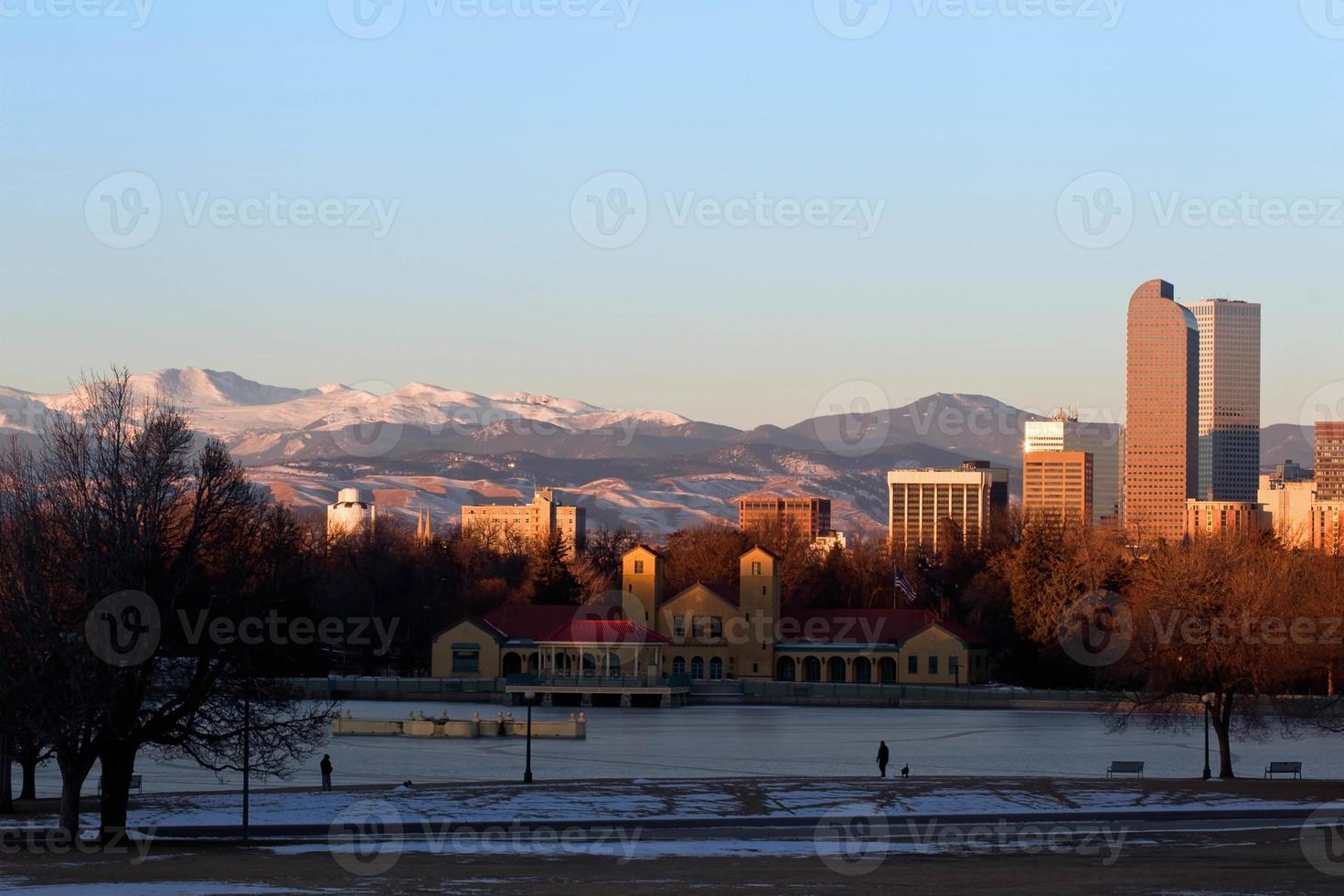 denver stadspark in de winter foto