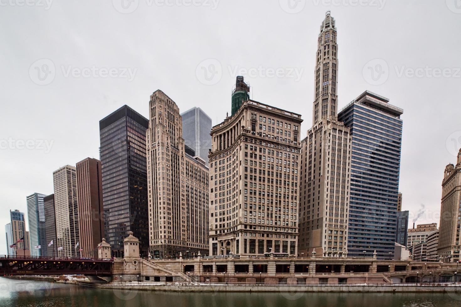 het centrum van chicago foto