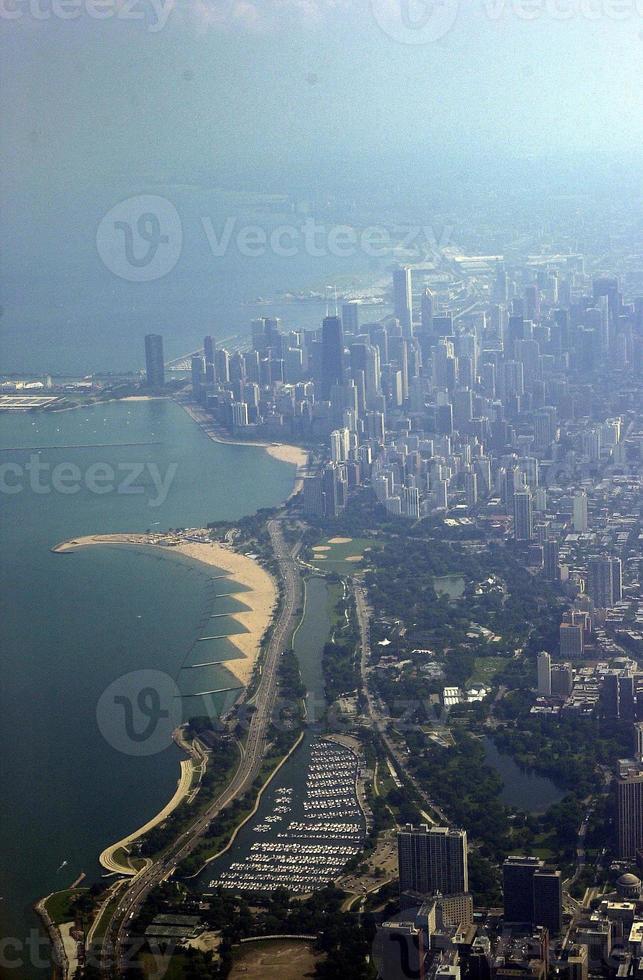 gebouwen in Chicago, Illinois foto