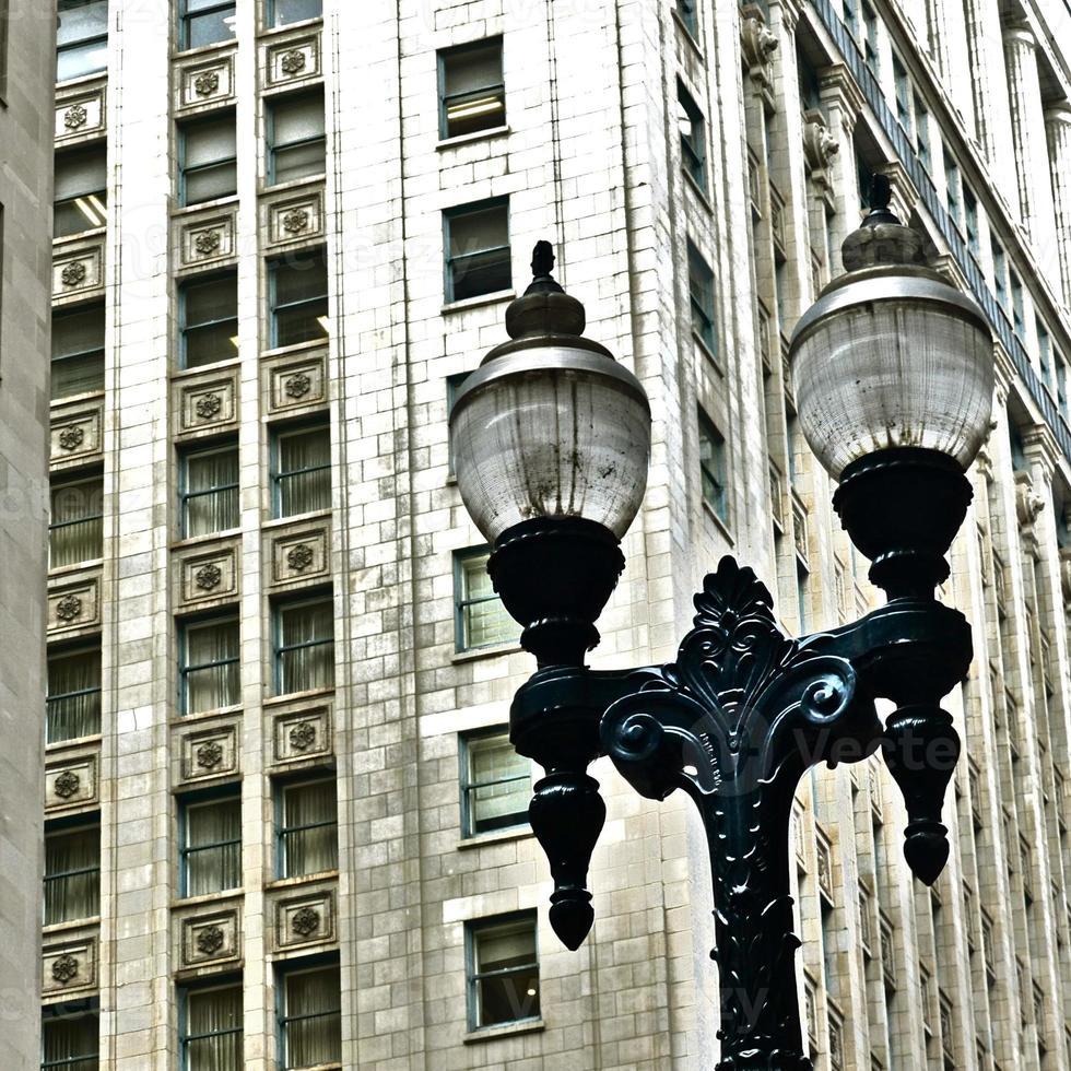 chicago - details architecturaux, gevel, art déco foto