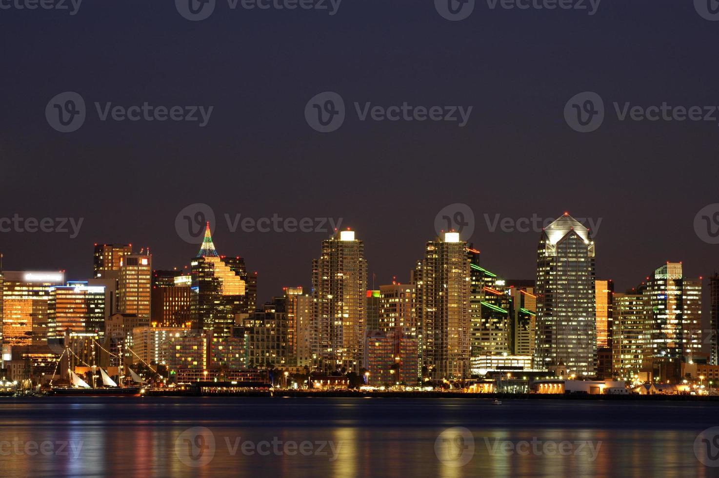San Diego Downtown nachtscène foto