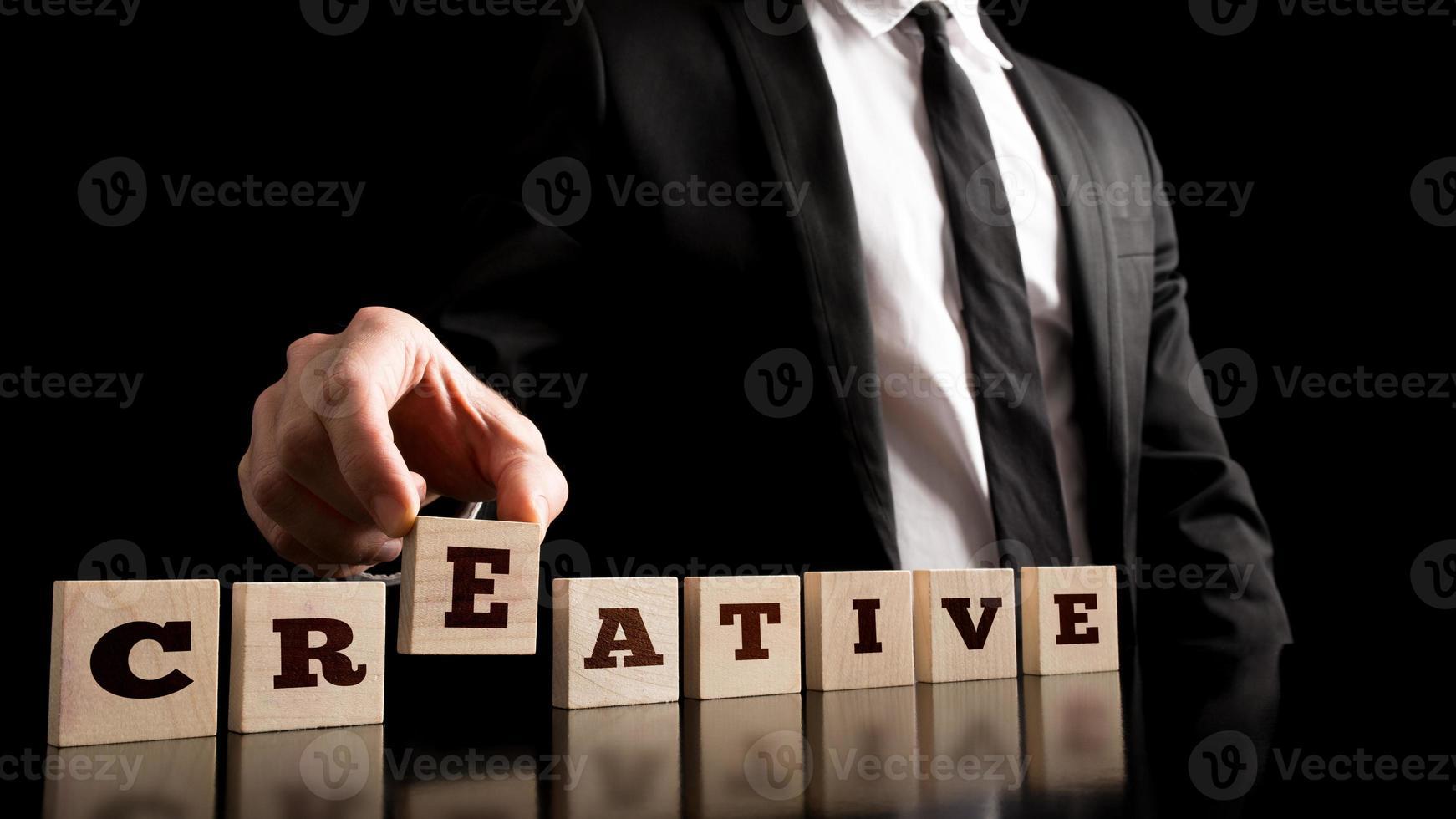 eenvoudige creativiteit in bedrijfsconcept foto