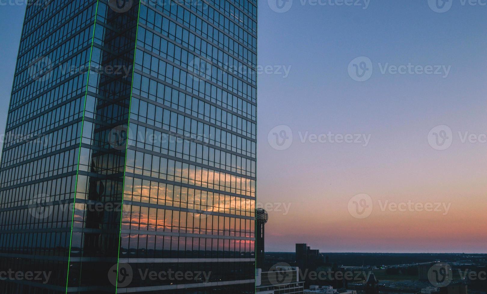 Dallas, TX zonsondergang foto